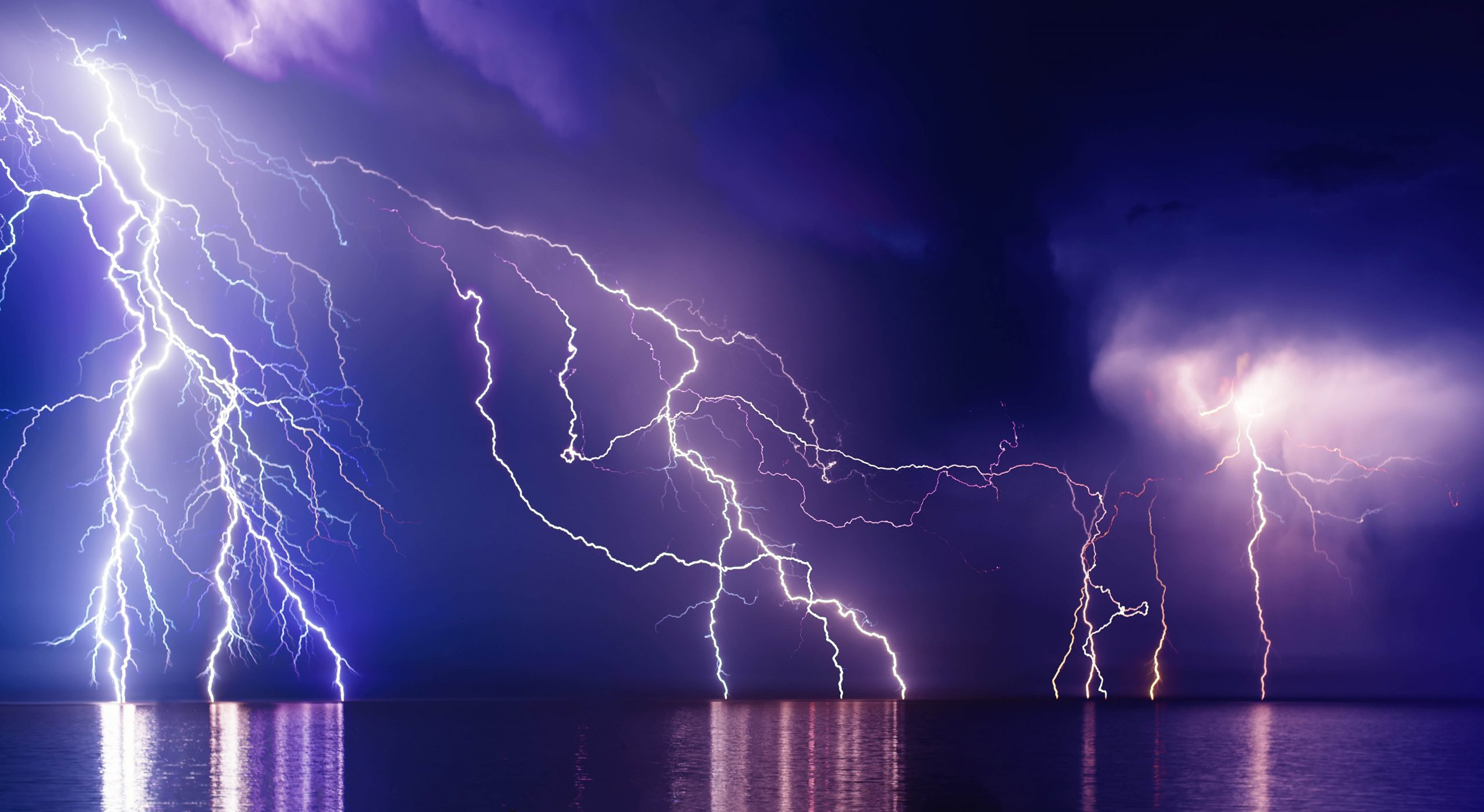 Fractal Lightning Strike Electricity